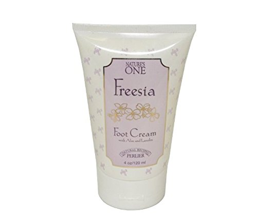 Perlier Nature's One Freesia by Perlier for Women. Foot Cream With Aloe Lanolin 4.0 Oz / 120 Ml + FREE Old Spice Deadlock Spiking Glue, Travel Size.84 Oz