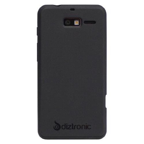 Diztronic Matte Back Black Flexible TPU Case for Motorola Droid Razr M (Verizon) & Motorola Electrify M (US Cellular) - Retail Packaging
