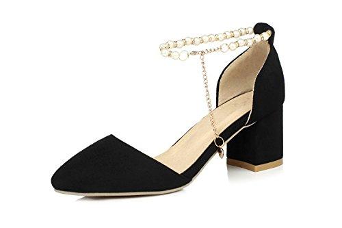 ZHZNVX Frauen Sommer Sandalen Sandalen Sandalen Spitze Dicke Heels Professionelle Schuhe Perlen Mode Turnschuhe Rot 39 d8d334