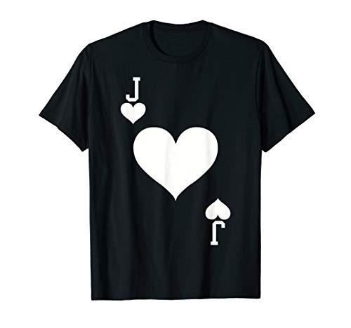 Jack of Hearts Card Halloween Costume T-Shirt -