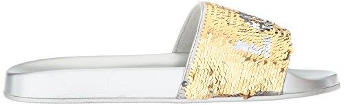 ALDO Womens Sunrize Slide Sandal, Silver, 6.5 B US
