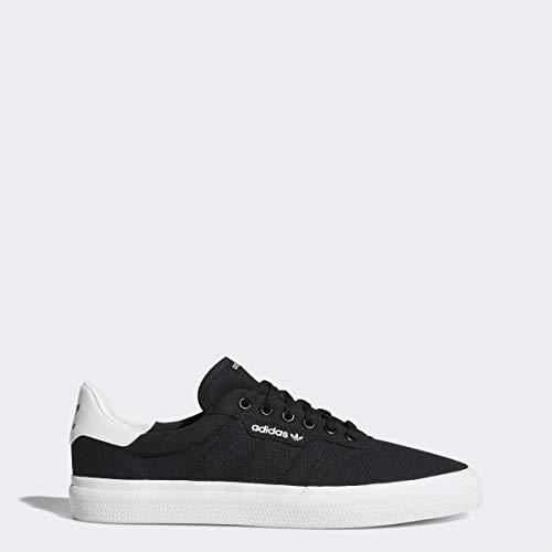 adidas Originals Unisex-Adult 3 MC Skate Shoe Skate Shoe, Black/Black/white, 12 M US