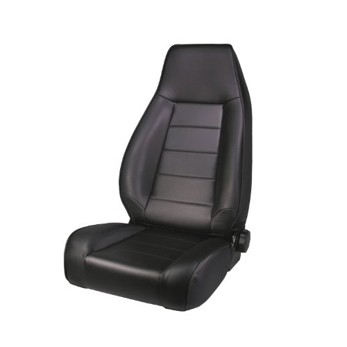 Rugged Ridge 13402.15 Factory Style Black Front Replacement Denim Seat with Recliner by Rugged Ridge