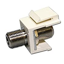 Channel Vision J-IFCA Snap-in F-Connector Female Jack Insert, Almond