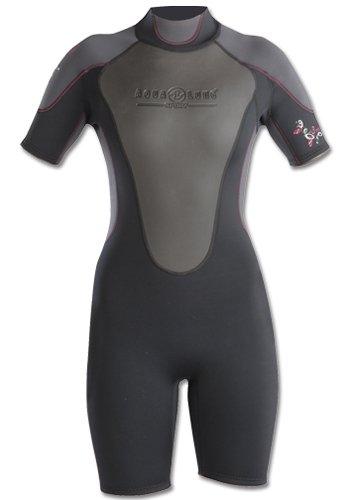 正規 Aqua LungスポーツレディースQuantumストレッチShorty B00ITCAX4E 5/6|ブラック/グレー ブラック/グレー Aqua 43591, 表装の詠智会:7ec02dbd --- beyonddefeat.com