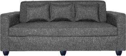 Mofi Sofas Fabric 3 Seater Sofa  Finish Color   Grey