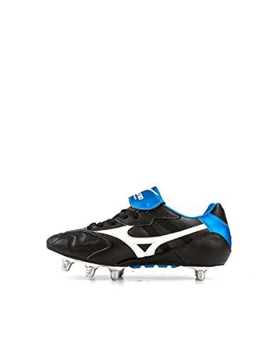 MIZUNO Timaru Bota de Fútbol Caballero Negro/Blanco/Azul