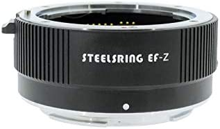 Steelsring EF-Z Camera Lens Adapter Ring Compatible with Canon EF Lens to Nikon Z Mount Cameras Auto Focus Adapter Compatible with Nikon Z6 Z7