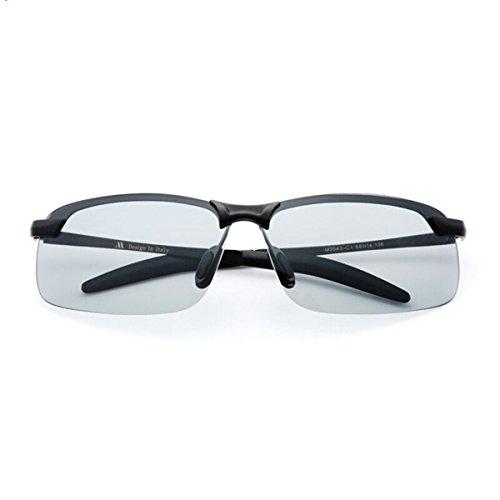 de Sol de los Gafas y Light de Gafas KOMNY luz Color Sol Gafas polarizada Espejos Masculinos Gafas Conductores de Polarizing de Lampara Sol polarizadores Nocturna de Vision de los Gafas Hombres wqXvYE