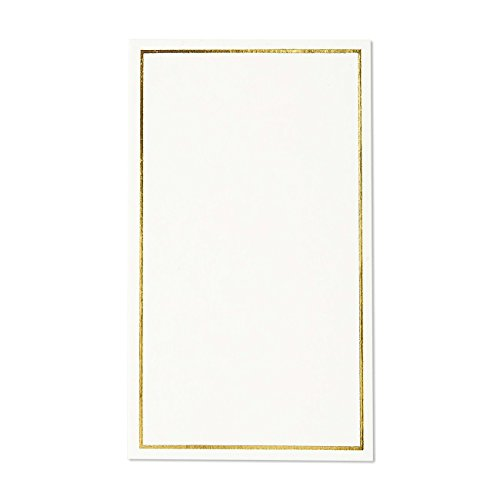 Pack of 100 Place Cards - Small Tent Cards with Gold Foil Border - Perfect for Weddings, Banquets, Events, 2 x 3.5 Inches by Best Paper Greetings (Image #6)