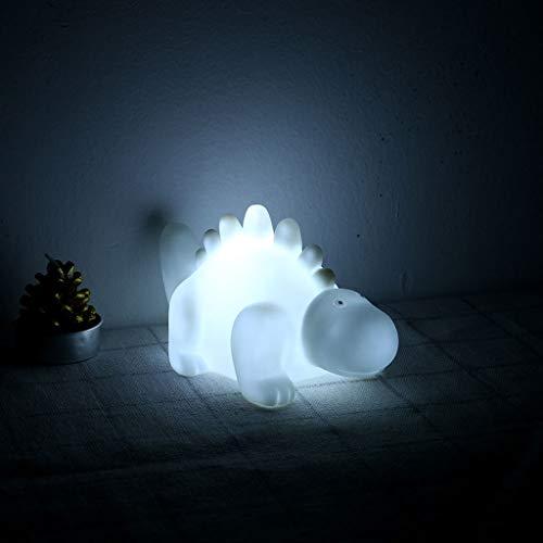 Maikouhai Night Light, Creative Cartoon LED Mini Dinosaur Lamp Kid Small Nightlight Home Decoration New - Kids Room Decor Lighting and Bedside Lamp as Birthday Gift or Christmas Gift (White)