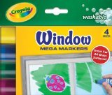 Crayola 58-8166 Washable Window Mega Markers-4/Pkg