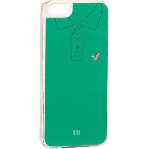 Para hombre Polo diseño de tela vaquera Voi iPhone 5 acabado mate ...