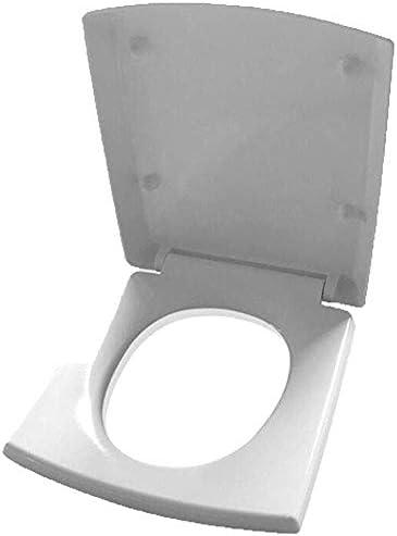 Andou Nk バッファパッドクイックリリース超耐性トイレカバーにバスルーム、洗面所付き便座スクエア台形トイレの蓋(カラー:ホワイト、サイズ:40)