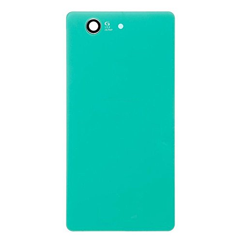 LUVSS New Back Glass Replacement for Sony Xperia Z3 Compact (Z3 Mini) D5803 D5833 Rear Cover Glass Panel Case Housing with Adhesive Preinstalled Repair Part (Green)