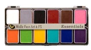 : Wolfe Face Paint Kit, Professional Face Painting Palettes - Essentials (12 hydrocolors)