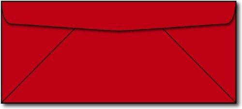 (Red #10 Envelopes - 50 Envelopes - 9.5
