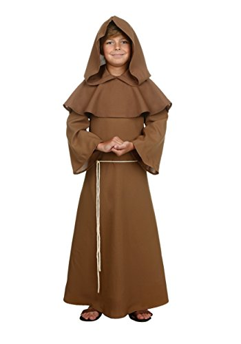Child Brown Monk Robe Costume - XL -