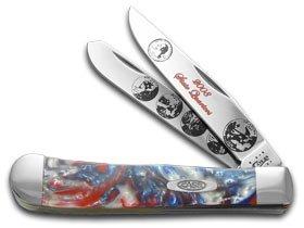 (Case Cutlery CAT-2008QTRS Case's Year 2008 State Quarter Corelon Handel Trapper Pocket Knife with Tru Sharp Surgical Steel Blades)