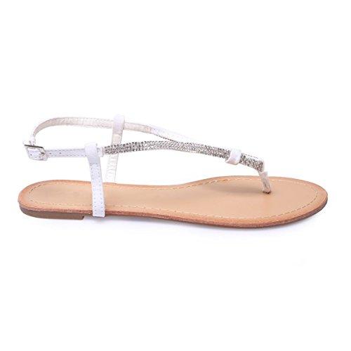 La Modeuse - Sandalias de vestir para mujer blanco