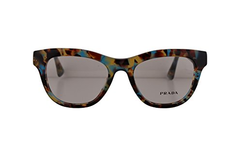 Prada PR04QV Eyeglasses 49-18-140 Havana Spotted Blue NAG1O1 VPR04Q For Women (FRAME - Round Sunglasses Oversized Prada
