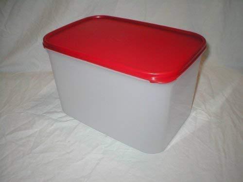 Tupperware Modular Mates Rectangular 3 Container. Red Seal