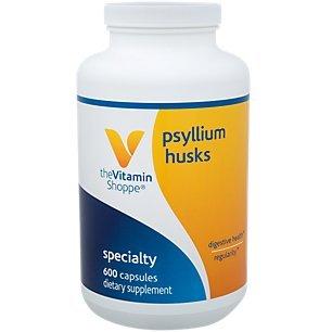 Psyllium Husks – Plantago Ovata Fiber Supplement That Supports Regularity Healthy Cholesterol, 840 mg per Serving Gluten Free (600 Capsules) by The Vitamin Shoppe