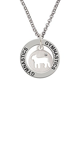 Lamb Silhouette - Gymnastics Affirmation Ring Necklace