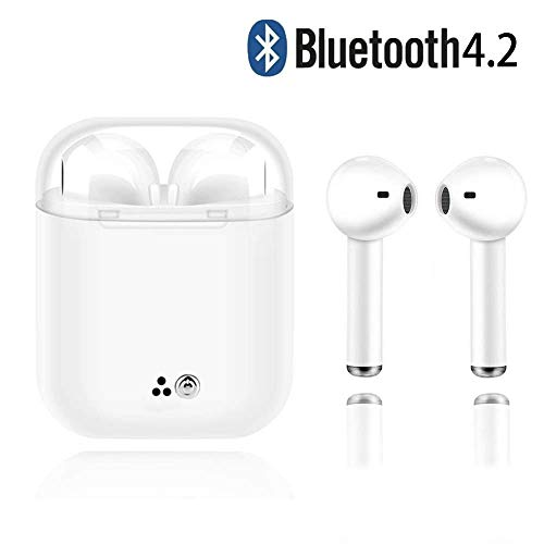 Bluetooth Headphones,Wireless Earbuds Stereo Earphone Cordless Sport Headsets Compatible with Apple iOS X 7 Plus 8 6 6S Plus and Samsung S7 S8 S8 Plus (White33)