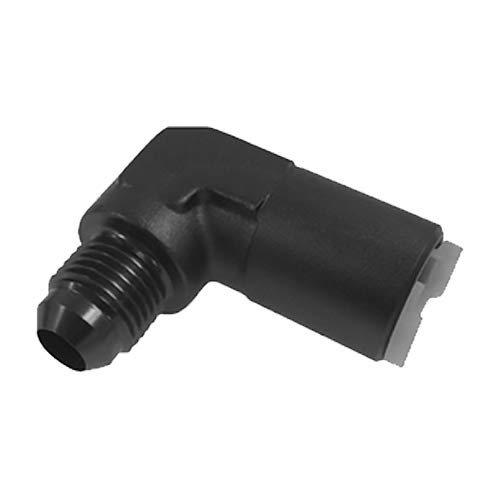 Roadrunner Performance AN08-3//8-FQC90BK Quick Connect Adapters an to Female 90 Degree 8 Black