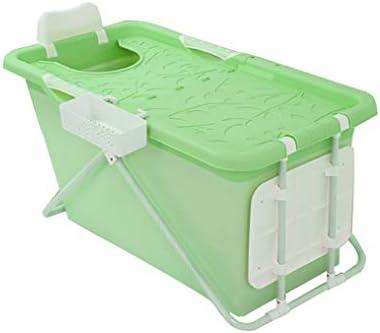 大人のロング断熱時間のために自立バスタブポータブル折りたたみバケツ風呂浴室ホットタブバスタブホットタブ (Color : Green)