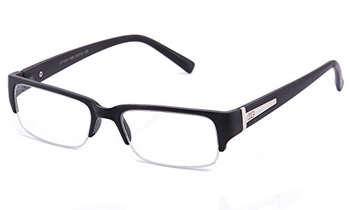 Newbee Fashion - IG Unisex Clear Lens Sleek Half Frame Slim Temple Fashion - Clear Half Glasses Frame
