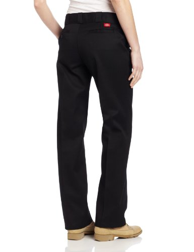 Dickies Women's Original Work Pant with Wrinkle And Stain Resistance,Black,8 Petite by Dickies (Image #2)