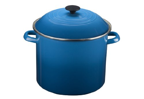 Le Creuset Enamel-on-Steel Covered Stockpot, 10-Quart, Marseille