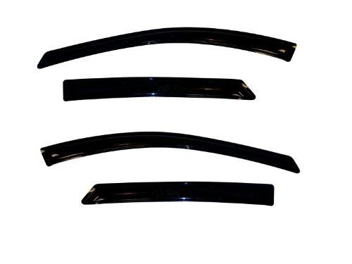 - Auto Ventshade 94273 Original Ventvisor Side Window Deflector Dark Smoke, 4-Piece Set for 2010-2015 Hyundai Tucson
