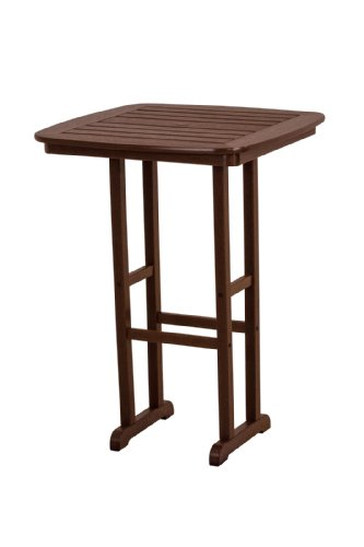 POLYWOOD NCBT31MA Nautical Bar Table, 31-Inch, Mahogany