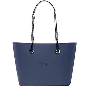 OBAG Borsa o bag urban blu navy sacca interna zip manico catena blu navy 8