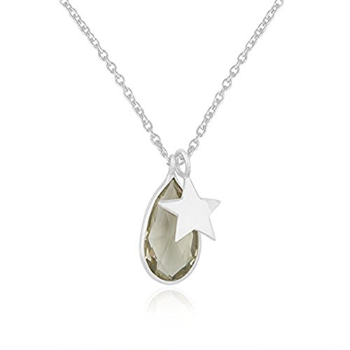 Nathis Green Amethyst & Charm Necklace