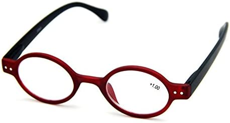 3bc8e7345d Designer Small round Oval Vintage Spring Hinge Reading Glasses Eyeglasses  Readers (+2.00
