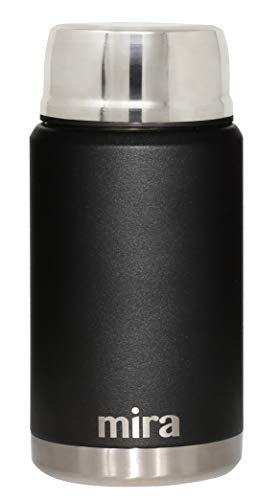 MIRA Lunch, Food Jar, Vacuum Insulated Stainless Steel Lunch Thermos, 25 oz (750 ml), Black