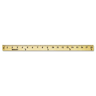 Wood Yardstick with Metal Ends, 36'', Sold as 1 Each