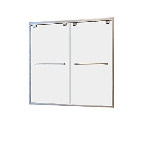 DreamLine Encore 56-60 in. W x 58 in. H Frameless Semi-Frameless Bypass Tub Door in Brushed Nickel, SHDR-1660580-04