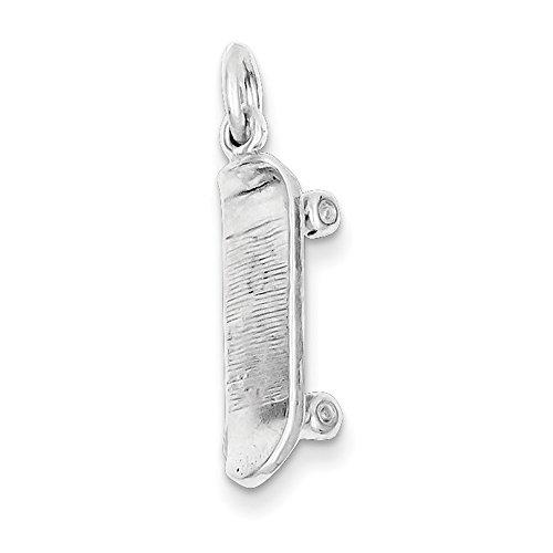 West Coast Jewelry Sterling Silver Skateboard Charm