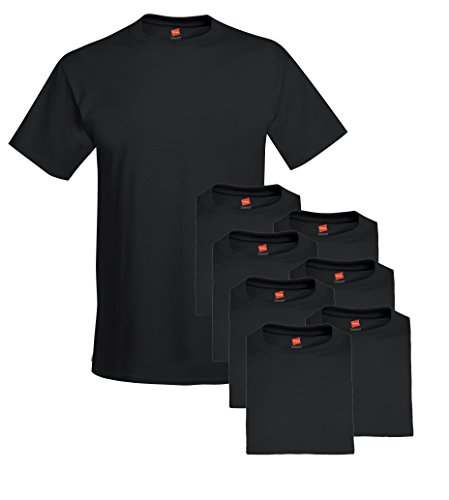 - Hanes Men's 6-Pack Plus 2 Free Crew T-Shirts, Black, XXX-Large
