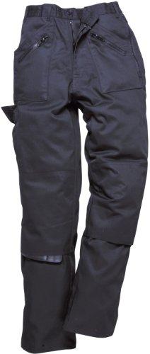 Pantaloni lavoro donna S687 rinforzo sulle con tasche da nero numerose da ginocchia cerniera frqCfFw