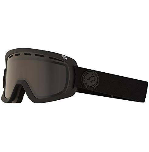Dragon Alliance D1 OTG Ski Goggles, Black, Murdered/Dark Smoke Lens (Dragon D1 Lenses)