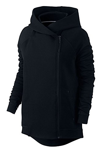 Nike Women's Tech Fleece Hooded Cape Jacket-Black-Medium