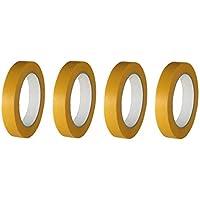 4 rollen schilder gouden band finelinetape schilderstape afdekband Washi lak 4 Rollen 18mm x 50m geel