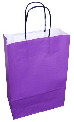 20 bolsas de papel, asa redonda, 220 x 100 x 310 mm, color ...