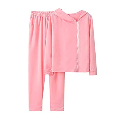 Women Casual Solid Tracksuit 2 Piece Outfits Decor Long Sleeve Zipper Hoodies and Long Pants Sweatsuits Sets Loungewear for Fall Winter : Baby